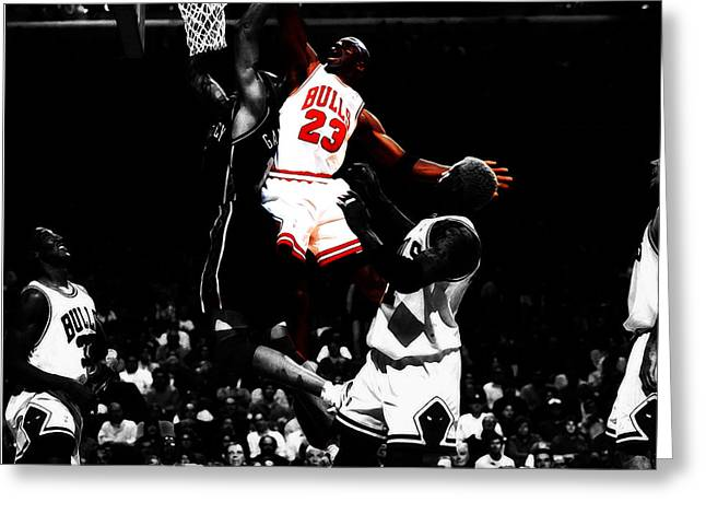 Michael Jordan Gimme Dat Greeting Card by Brian Reaves