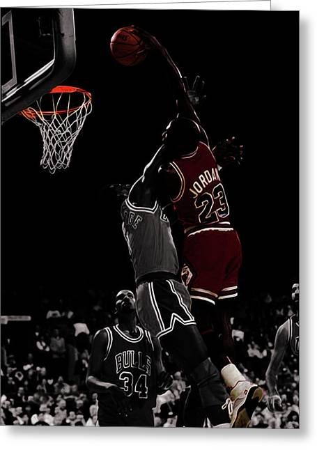Michael Jordan I Rise Greeting Card by Brian Reaves