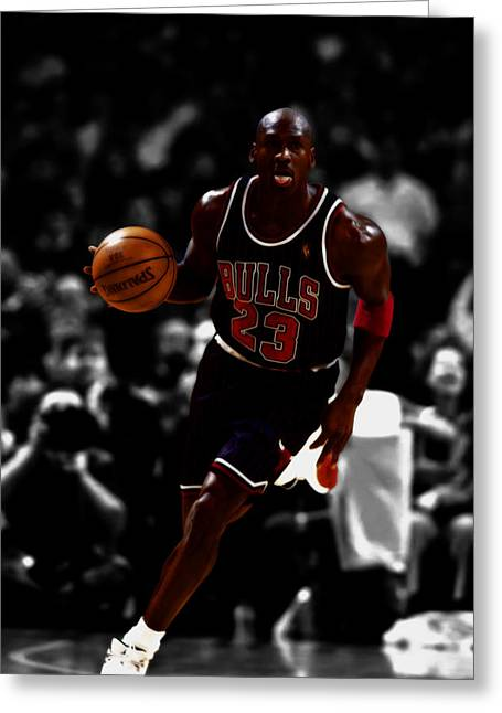 Michael Jordan In Open Court Greeting Card