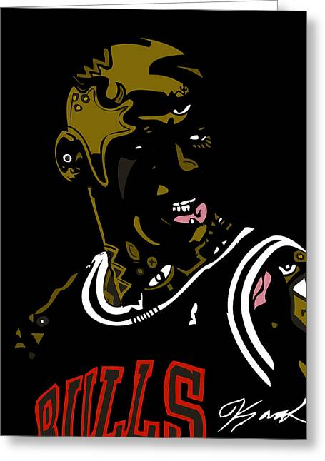 Michael Jordan Greeting Card by Kamoni Khem