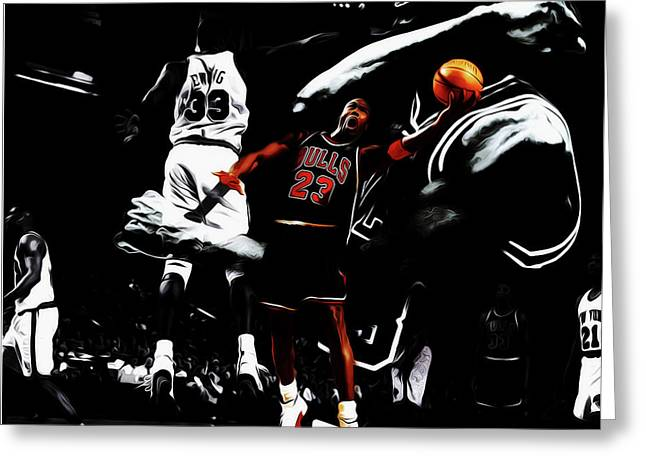 Michael Jordan Life Of Excellence Greeting Card