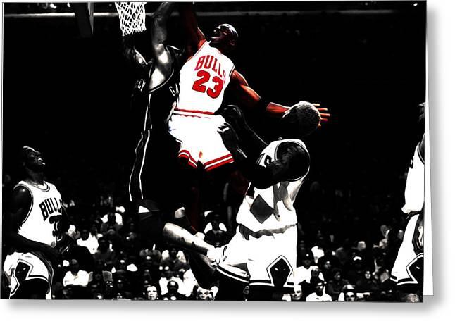 Michael Jordan Not In My House Greeting Card
