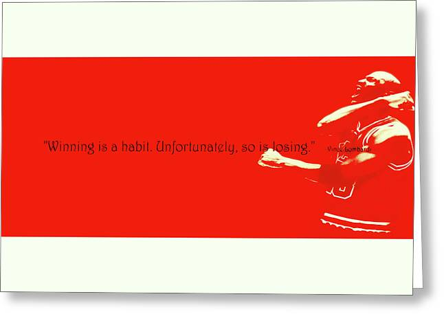 Michael Jordan Quote 1b Greeting Card by Brian Reaves