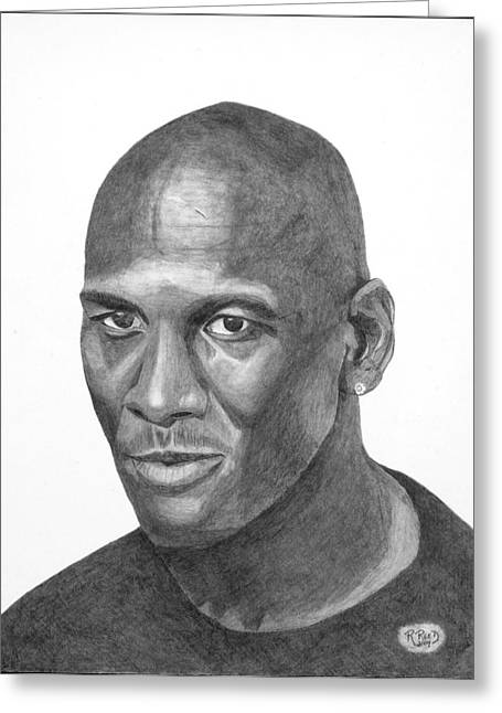 Michael Jordan Greeting Card by Randy Reed