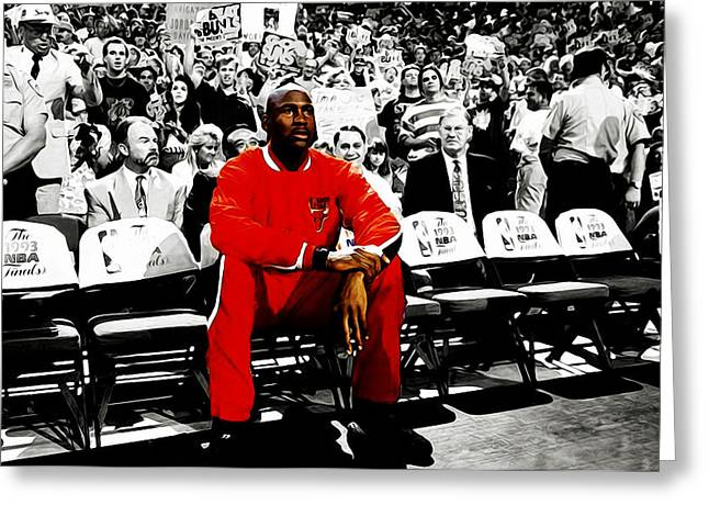Michael Jordan Ready To Go Greeting Card by Brian Reaves