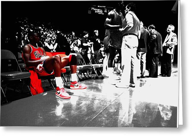 Michael Jordan Ready To Go II Greeting Card by Brian Reaves