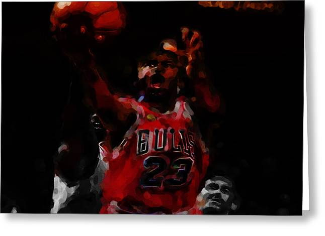 Michael Jordan Soft Touch 2b Greeting Card