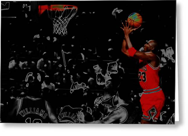 Michael Jordan Two More Greeting Card