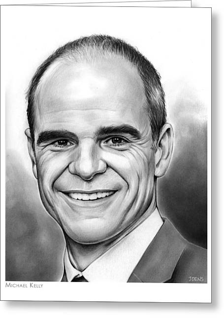 Michael Kelly Greeting Card by Greg Joens