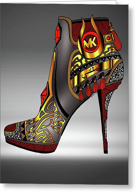 Michael Kors Shoe Illustration No. 2 Greeting Card by Kenal Louis