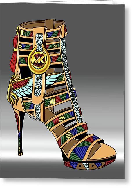 Michael Kors Shoe Illustration No. 3 Greeting Card by Kenal Louis