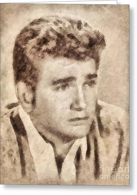 Michael Landon, Actor, Little House On The Prairie Greeting Card by John Springfield