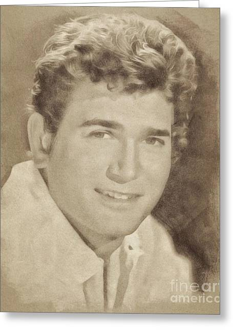 Michael Landon, Vintage Actor By John Springfield Greeting Card by John Springfield