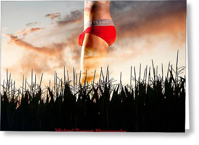 Michael Phelps Sunset Greeting Card