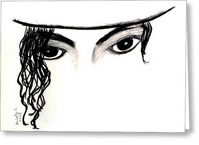 Michael's Eyes Greeting Card by Melody Anderson
