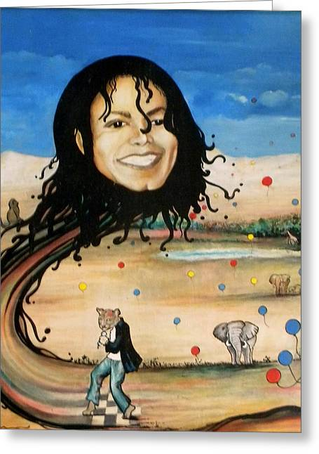 Michael's World Greeting Card by Jordana Sands
