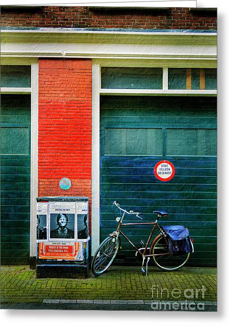 Greeting Card featuring the photograph Michel De Hey Bicycle by Craig J Satterlee