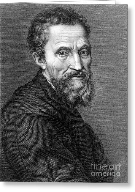 Michelangelo, Italian Renaissance Man Greeting Card by Science Source