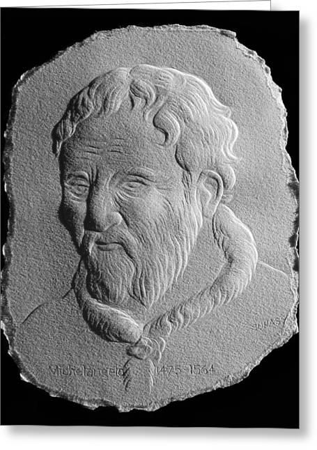 Michelangelo Greeting Card by Suhas Tavkar