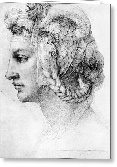 Michelangelo: Woman, C1528 Greeting Card by Granger