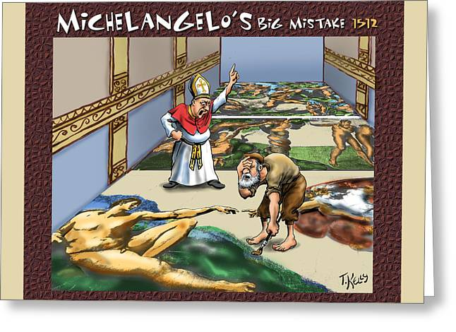Michelangelo's Big Mistake Greeting Card