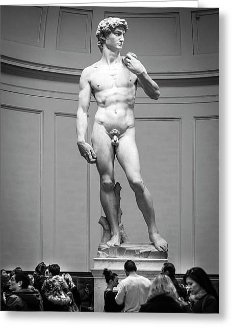 Michelangelo's David Greeting Card by Sonny Marcyan