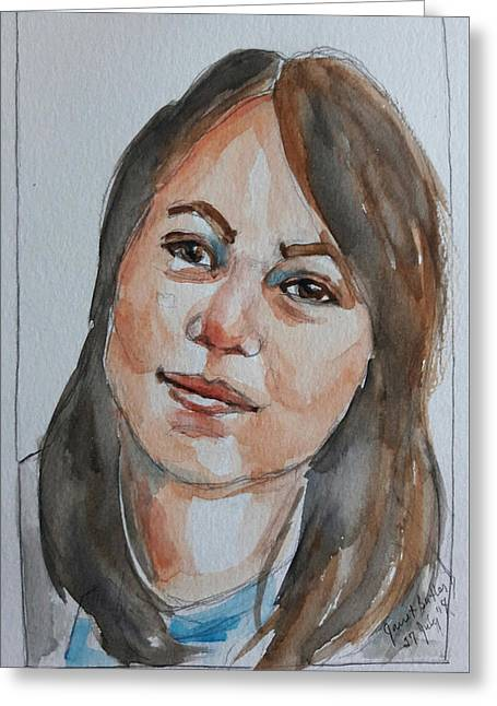 Michelle Greeting Card by Janet Butler
