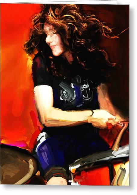 Michelle Mangione Greeting Card by James VerDoorn