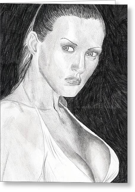 Greeting Card featuring the drawing Michelle by Michael McKenzie