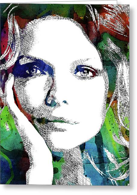 Michelle Pfeiffer Greeting Card by Mihaela Pater