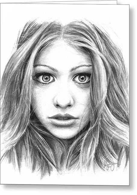 Michelle Trachtenberg Greeting Card by Ryan Jones