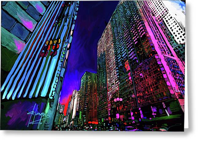 Michigan Avenue, Chicago Greeting Card