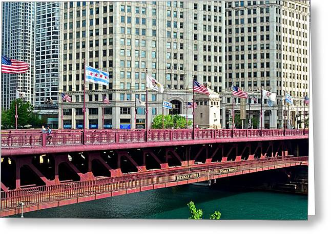 Michigan Avenue Chicago Greeting Card by Frozen in Time Fine Art Photography