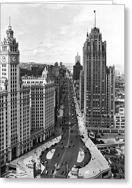 Michigan Avenue In Chicago Greeting Card