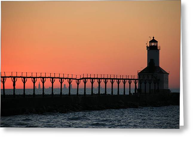 Michigan City East Pier Lighthouse Greeting Card