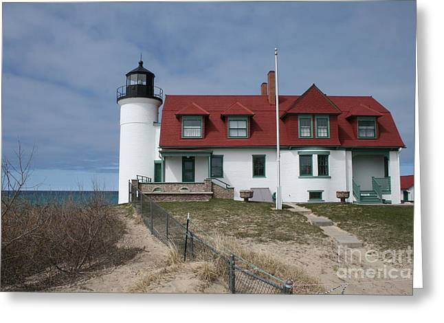Greeting Card featuring the photograph Michigan Lighthouse II by Gina Cormier