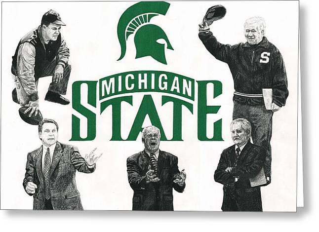 Michigan State Coaching Legends Greeting Card