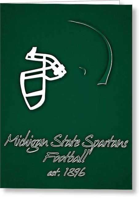 Michigan State Spartans Helmet Greeting Card