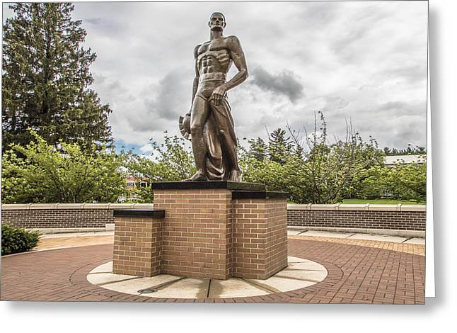 Michigan State - The Spartan Statue Greeting Card by John McGraw