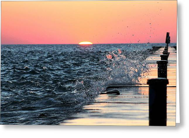 Michigan Summer Sunset Greeting Card
