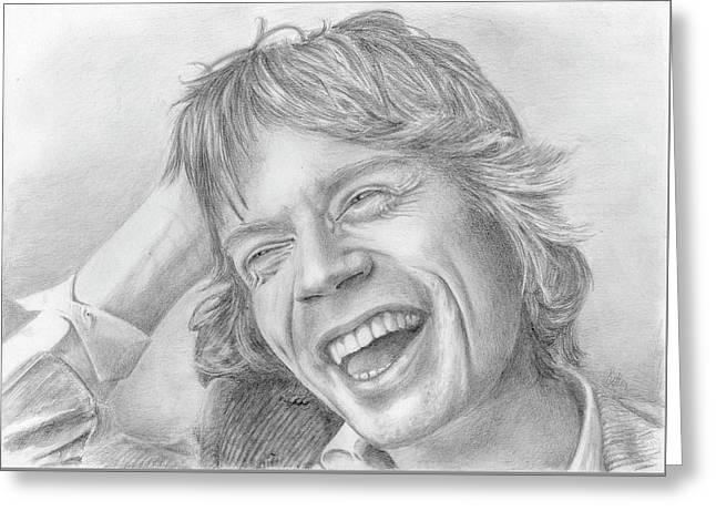 Mick Jagger Greeting Card by Bitten Kari