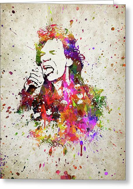 Mick Jagger In Color Greeting Card