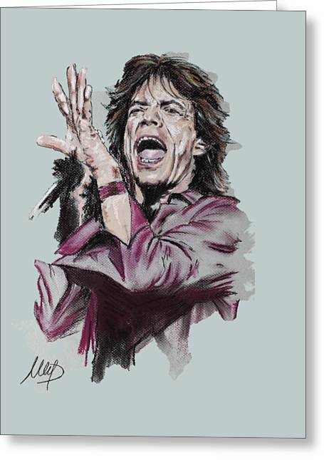 Mick Jagger Greeting Card