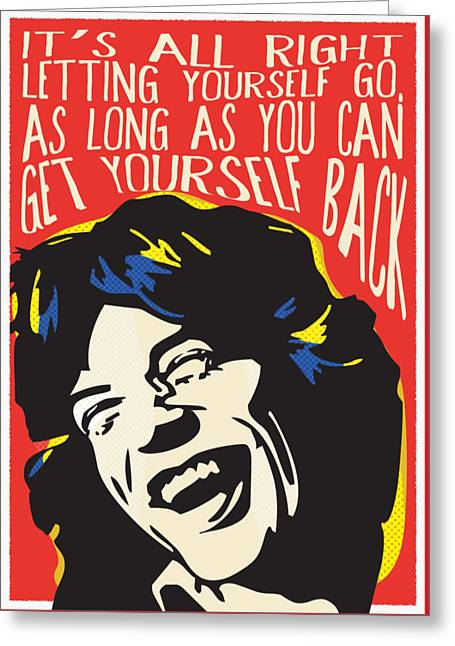 Mick Jagger Pop Art Quote Greeting Card