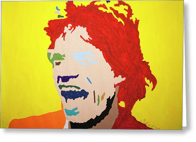 Mick Jagger Greeting Card by Stormm Bradshaw