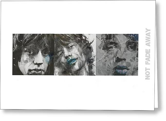 Mick Jagger Triptych Greeting Card
