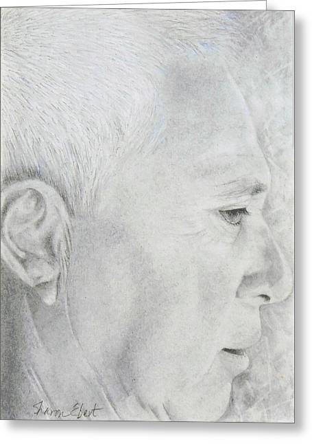 Mick Greeting Card by Sharon Ebert