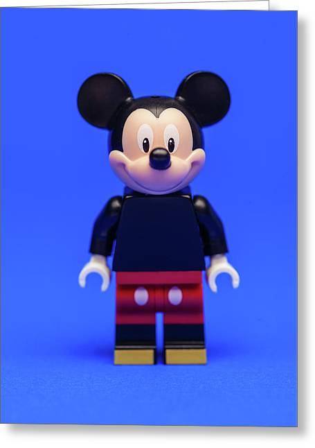 Mickey Mouse Greeting Card by Samuel Whitton