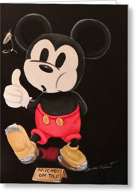Mickey On Tap Greeting Card