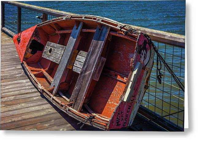 Mickey Rat Row Boat Greeting Card by Garry Gay